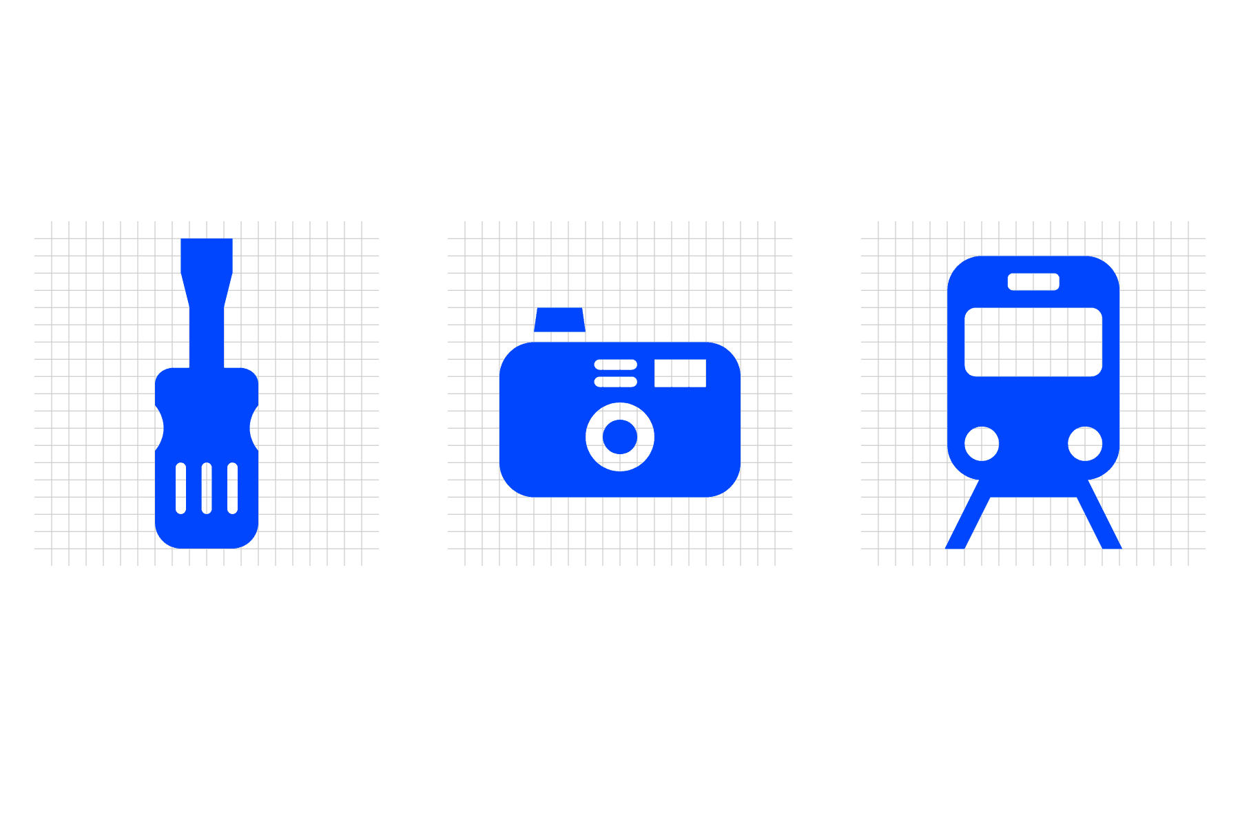 Stadtteil Atlas, Icons