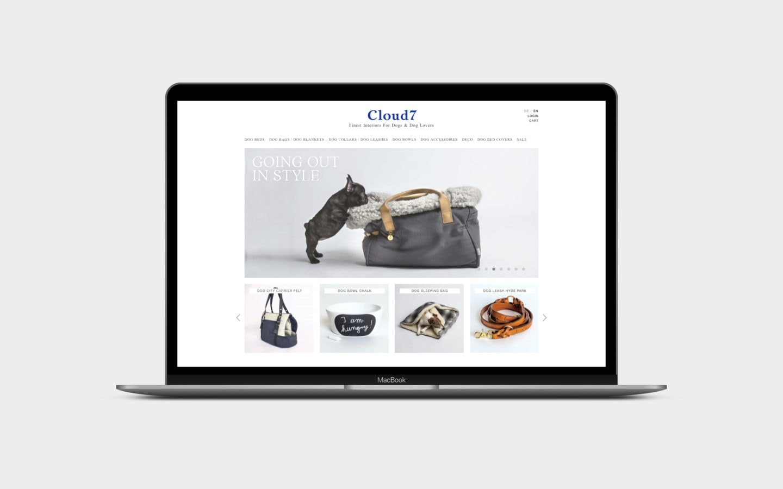 Onlineshop für Hunde-Accessoires [desktop]
