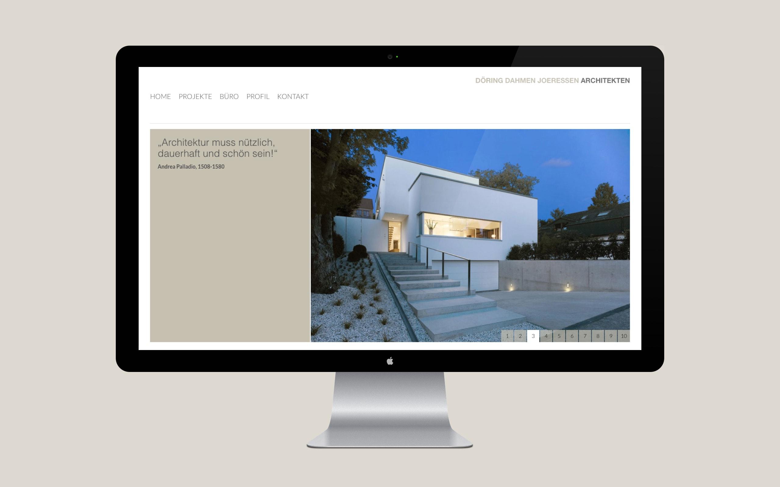 DDJ Architekten Projekt Seite [Desktop]
