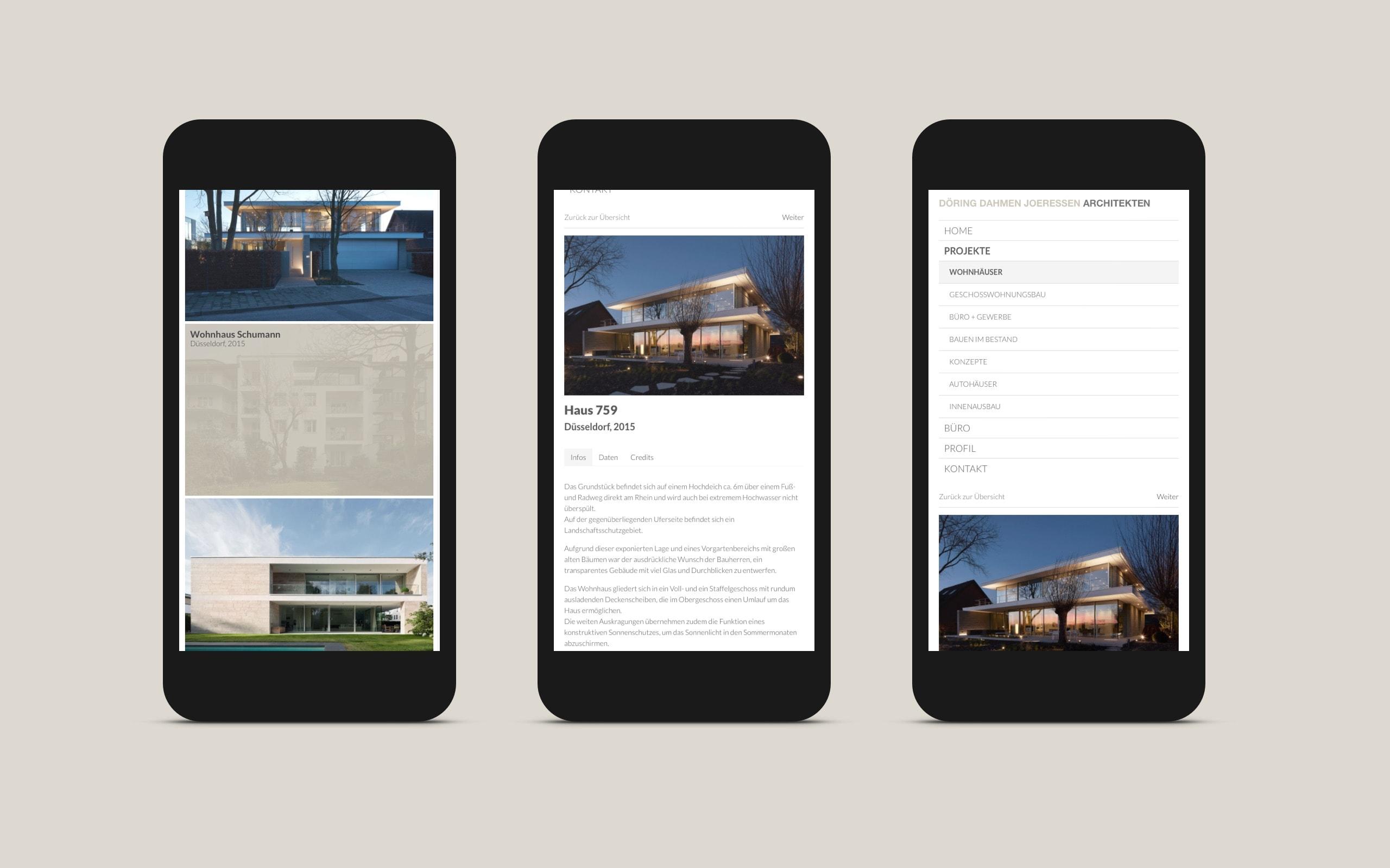 DDJ Architekten Übersicht Seite [iPad]