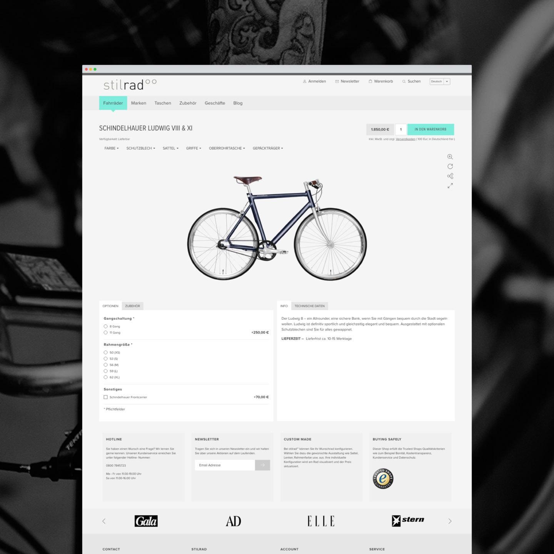 Stilrad Onlineshop Produkt-Detailseite [screen]