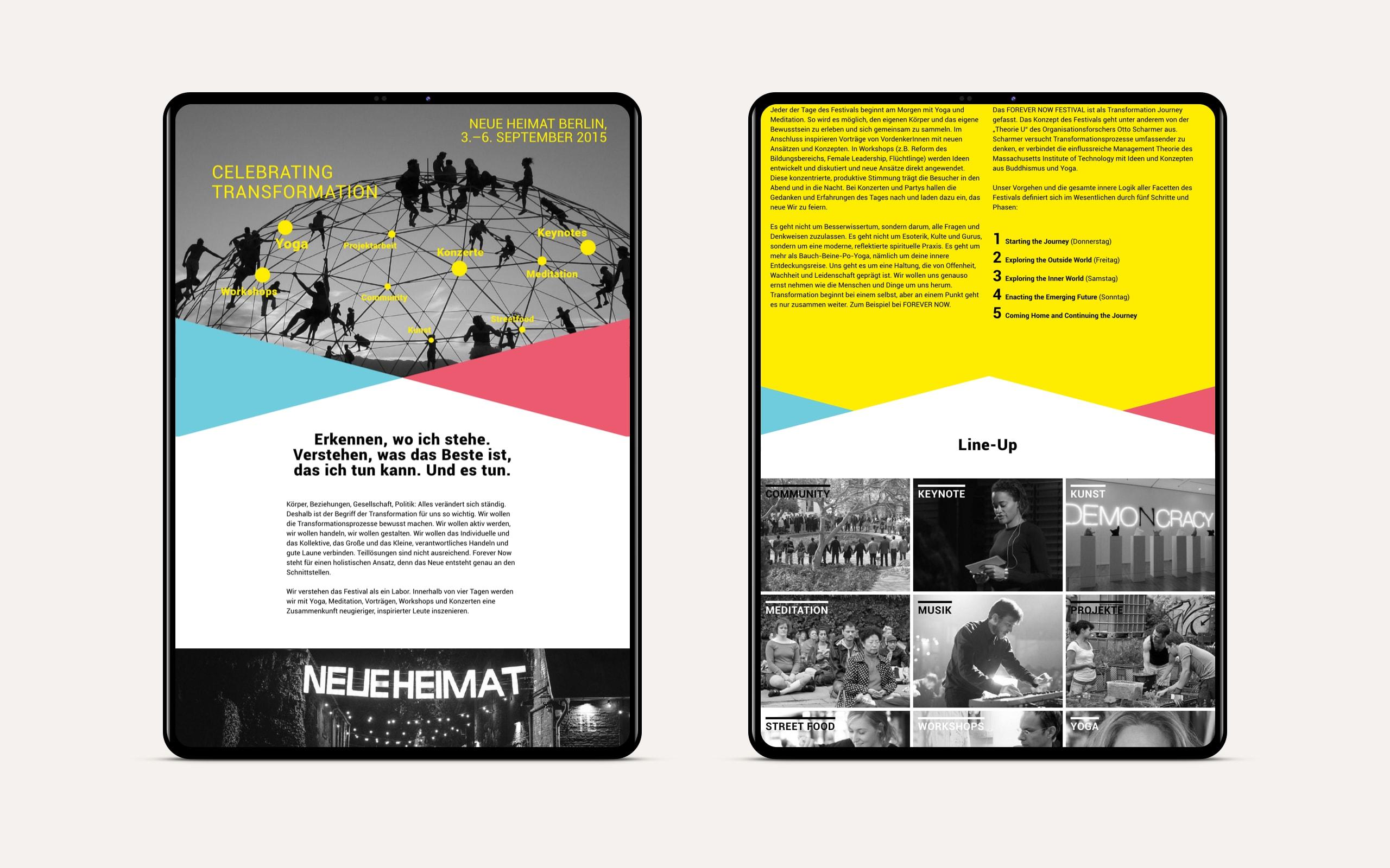 ForeverNow Website Lineup [tablet]