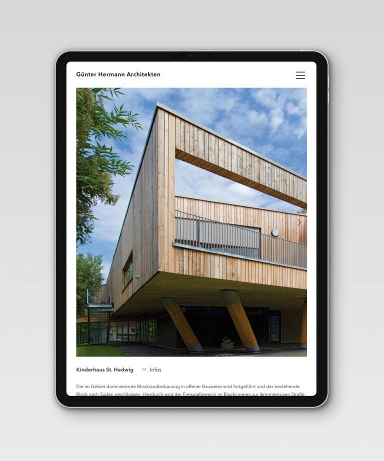 Günter Hermann Architekten – Startseite [iPad]