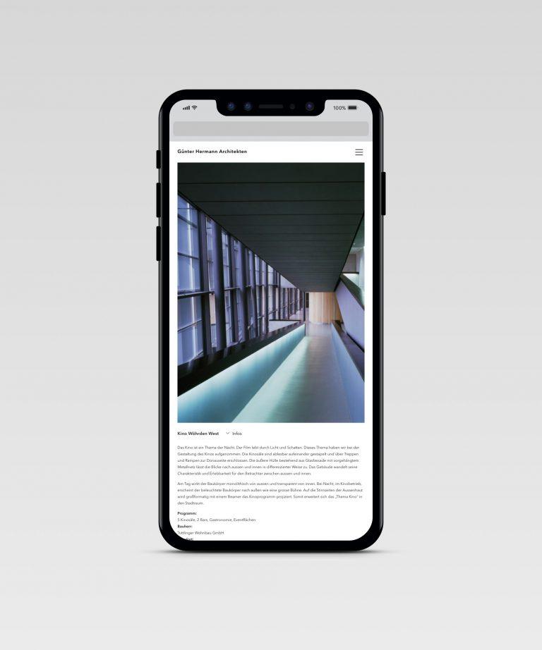 Günter Hermann Architekten – Projektseite [iPhone 6]