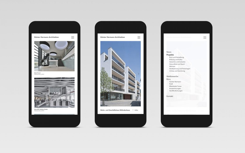 GH-Architekten Projekte & Navigation [mobile]