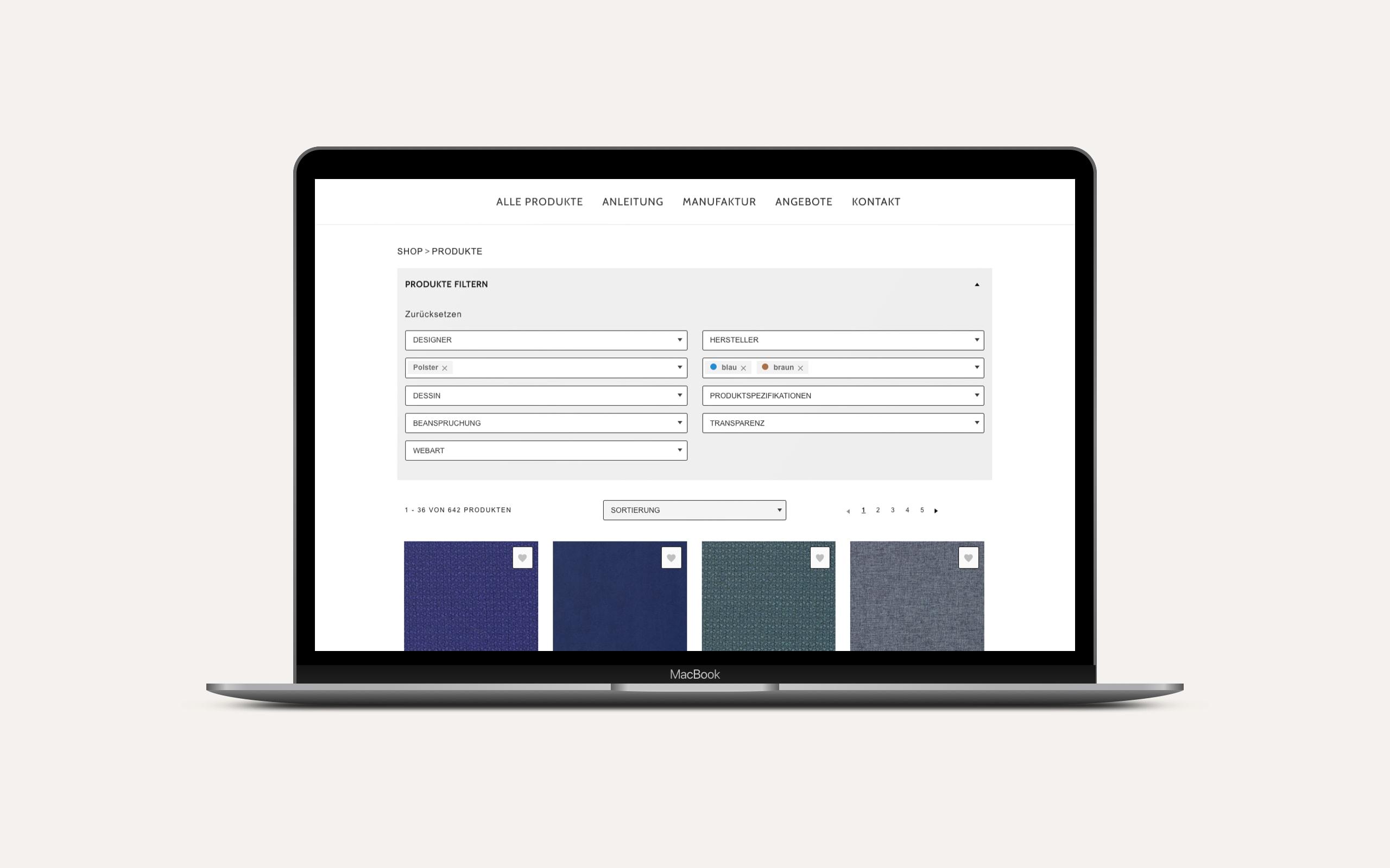 Architonic – Shop Modul / Laptop