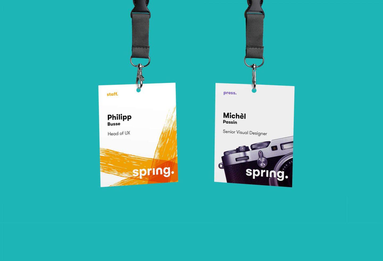 Mitarbeiter-Ausweis Spring